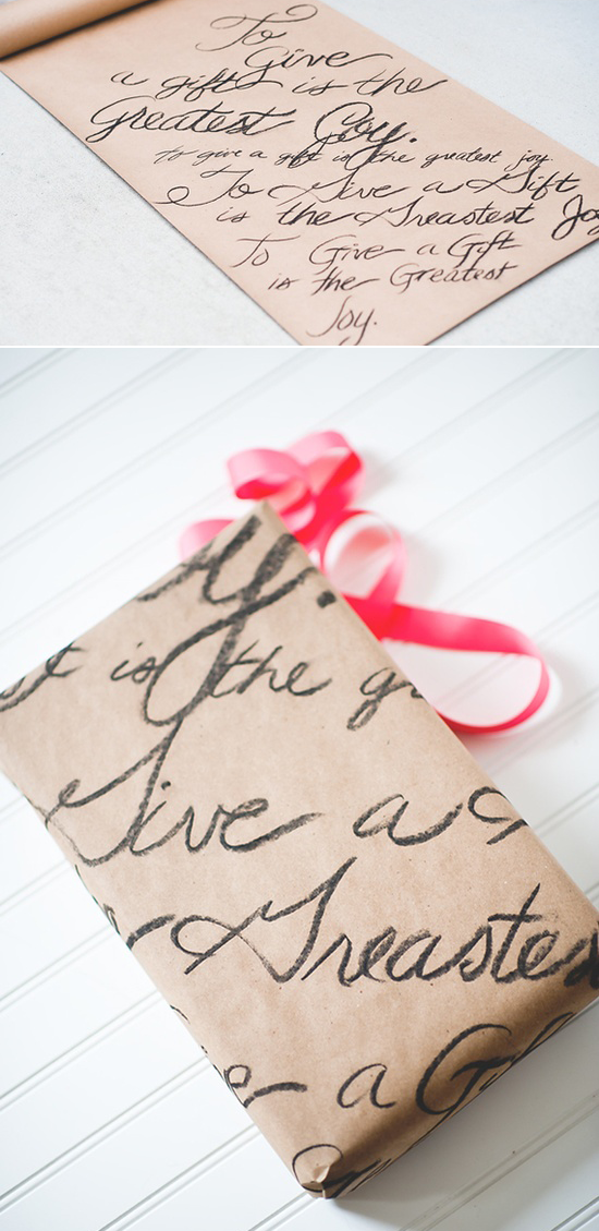 How sweet is this handwritten love letter gift wrapping paper? A great way to get creative for your future spouse! Write a love letter out and use it to wrap a gift to each other before your big day! Definitely something to keep on your list!