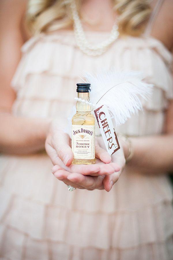 20s glitzy pearl vintage wedding jack daniel favors