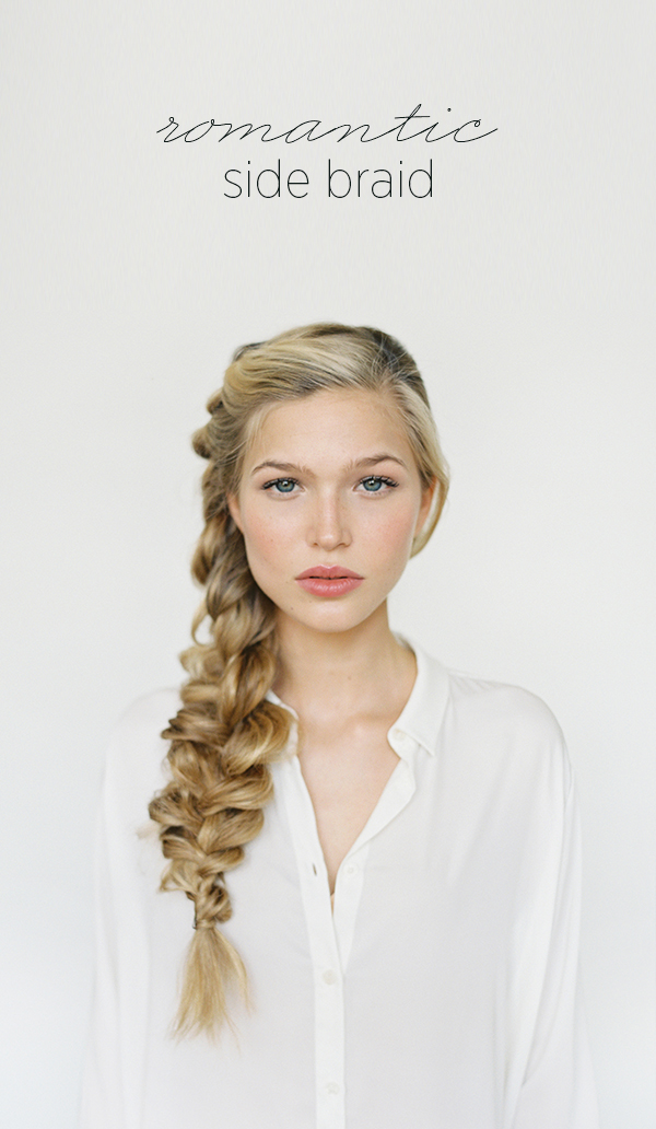You can never stop looking up the many ways to do your hair for your big day! This DIY tutorial shows you how to master this beautiful romantic look using a side braid. Loving the way the loops are tugged out, giving it a touch of wildness. Free and casual, yet chic at the same time!
