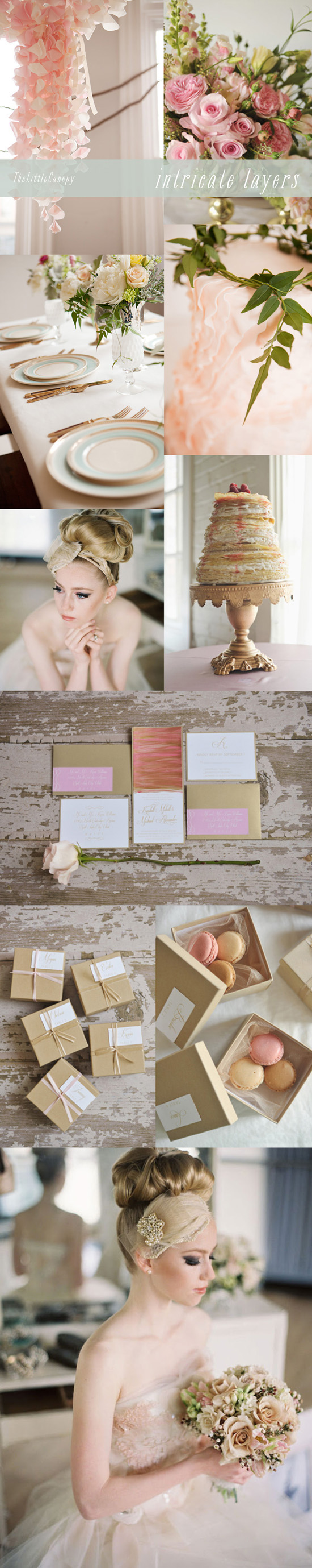 It's not just about what colors you use, it's also about how you use them! Layering is key to a romantic, intricate feel on your special day! From flowers to watercolored stationery, from your hair to your dress, you know you'll remember the littlest details for years to come.
