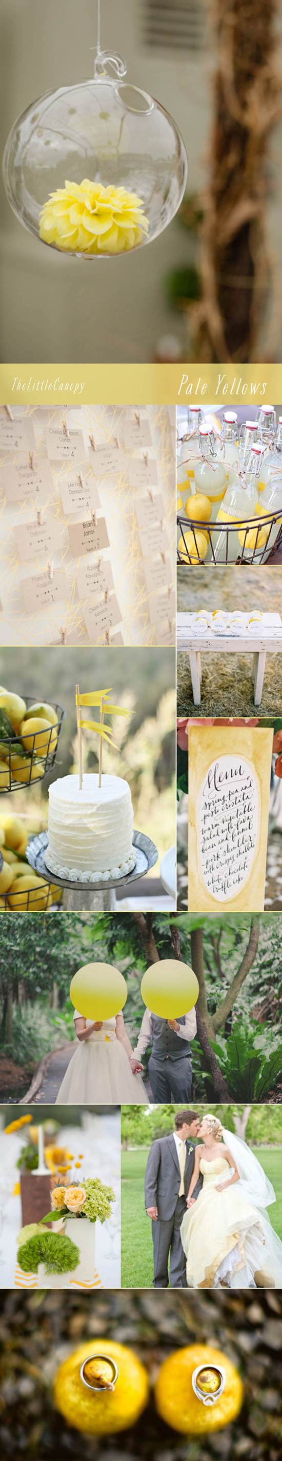 Ah, the beautiful pale yellow - we crave this happy color from time to time. So many ways to incorporate such a simple note into many different ways! Loving the usage of materials such as glass and thread to give life to the faint accents of yellow.