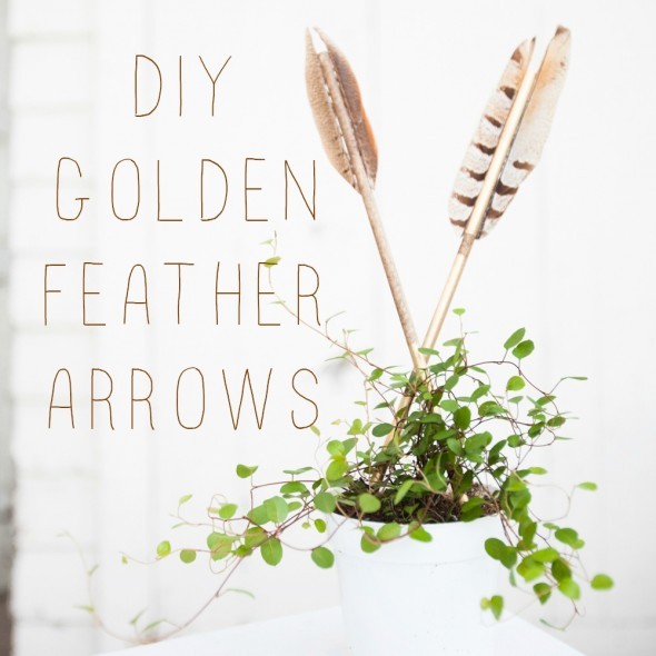 Here's a very cute diy project tutorial on how to make wooden gold arrows with feathers! So cute for rustic weddings or... dare I say... cupid themed weddings? Chic!