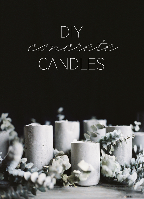 This is great one to keep - diy concrete candles! Loving the look of these smooth, minimal concrete towers that hold a small candle on top. The tutorial shows embedding the candles while the concrete is still wet, which could possibly then allow the melted wax to be removed and the concrete towers to be saved for later use! Enjoy.