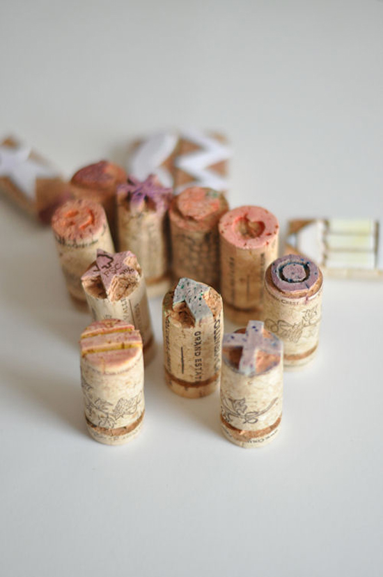 What a cute and easy diy stamp tutorial! Who says your stamps have to cost a lot of money? This tutorial shows you just how simple it is to make your own custom stamps - great for your save the dates, invitations, etc. See how far you can go with just a cork! A good one to keep! Enjoy!