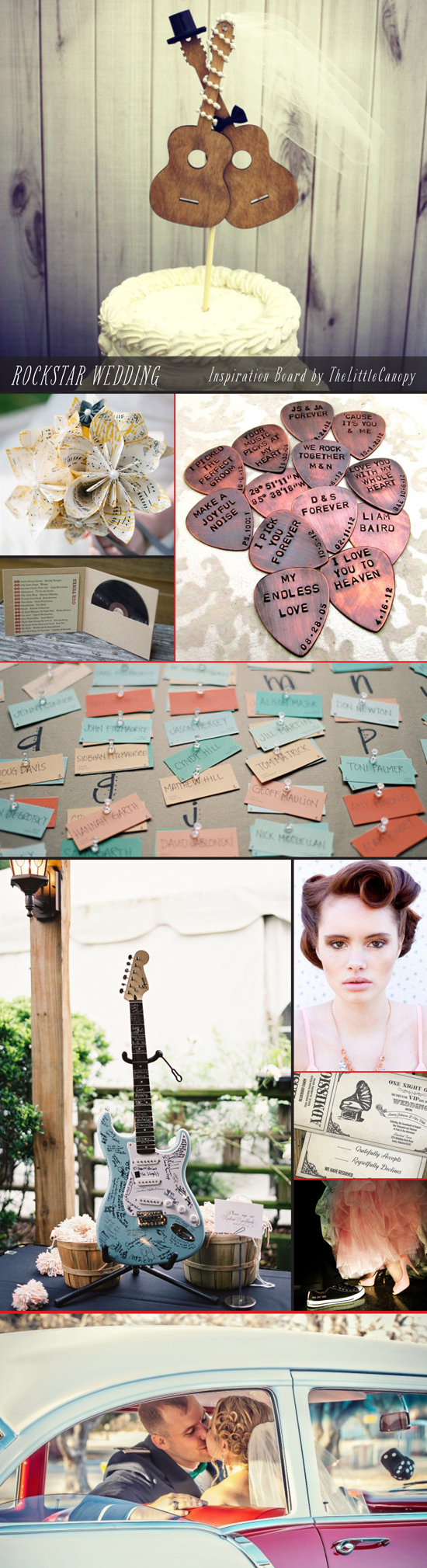 Our inspiration board for this week : Rockstar Wedding! Enjoy!