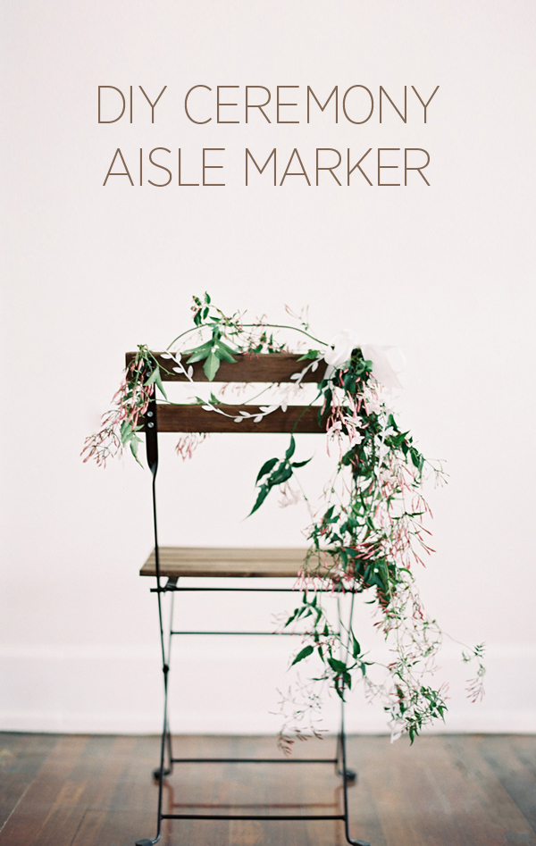 Want something natural and beautiful for your aisle? This diy garland aisle markers are so romantic and easy to do! Perfect for any outdoor rustic or garden theme weddings!