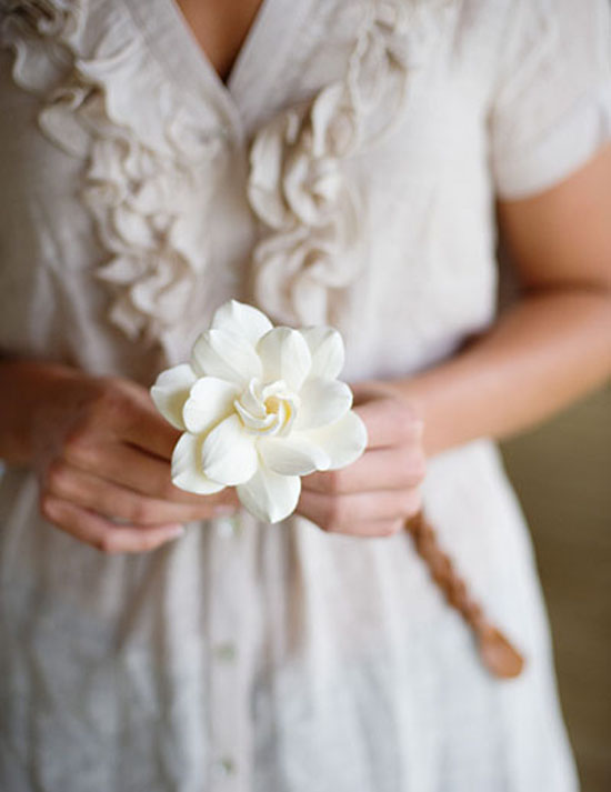 wedding flowers gardenias