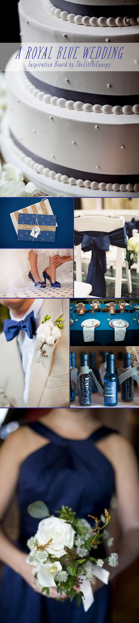 Inspiration Board: A Royal Blue Wedding // How beautiful is this royal blue? Here are some ideas for a rich color theme on your special day. Blue is a great color for any season! Enjoy!