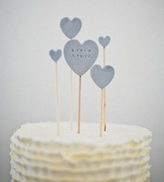 wedding-favorites-custom-stamped-clay-hearts-cake-topper