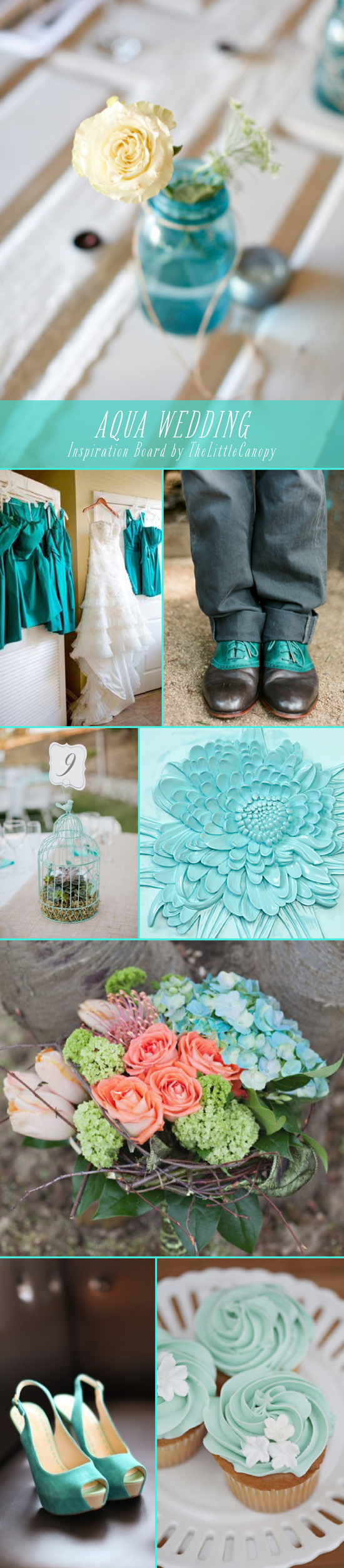wedding-inspiration-board-aqua-color-theme-ideas