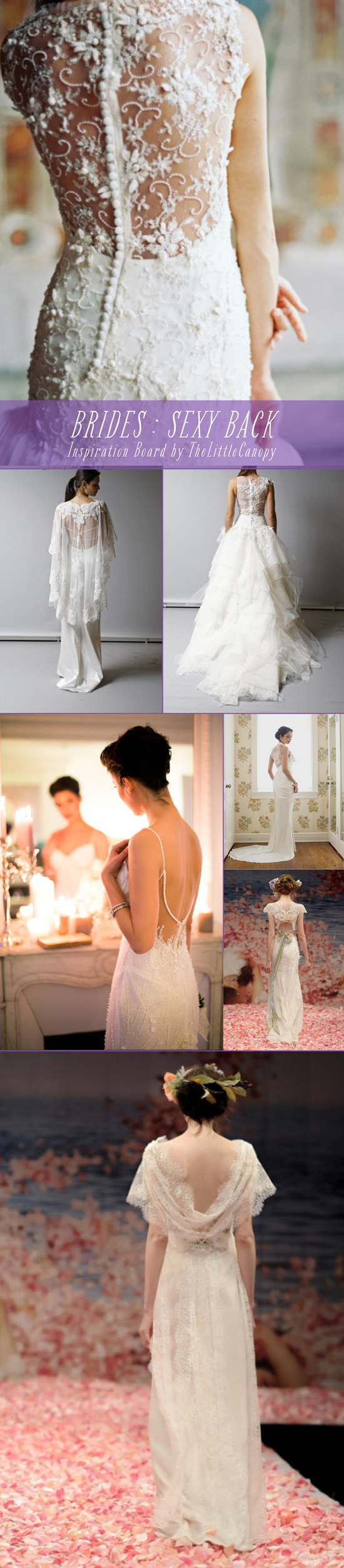 Inspiration Board: Sexy Wedding Dress Backs